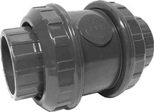 Klebemuffengröße 50mm: PVC-U Rohr Winkel T-Stück Muffe Verschraubung Übergang Kugelhahn Bogen, Größe: Rückschlagventil