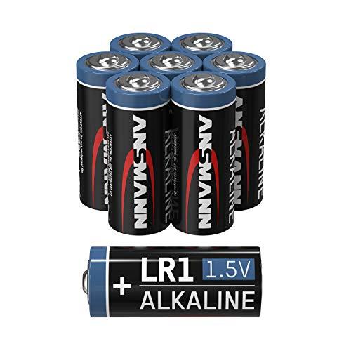 ANSMANN LR1 1,5V Alkaline Batterie - 8er Pack Lady N Batterien geeignet für Alarmanlagen, Heizungsthermostaten, Sensoren, Alarmanlagen & vieles mehr - Einwegbatterie