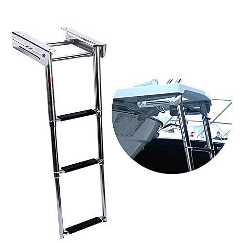 Under Platform Boat Ladder, XK Marine Stainless Steel 3 Step Telescoping Ladder,...