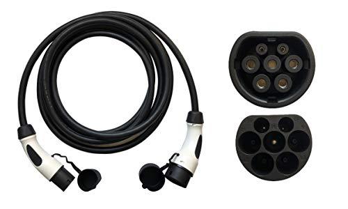 ONETAK EU Standard Typ 2 zu Typ 2 62196-2 Ladekabel 6.1 Meter 32Amp 1 Phasen für EV EVSE PHEV Elektroauto Ladegerät Mobile Ladestation