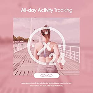 GOKOO Smart Watch for Women Activity Fitness Tracker with Heart Rate Monitor Sleep Monitor Remote Camera Control Step Calorie Counter Waterproof Reminder Pedometer Smartwatch for Women