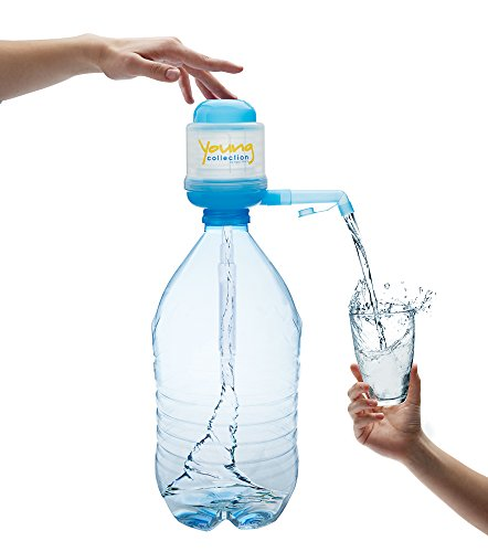 Agua Quick Young Collection Pumpe für 5 Liter Flaschen Wasserpumpe - das Original - Hellblau