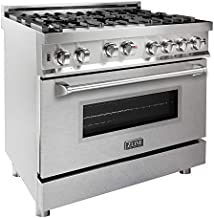 ZLINE 36 in. Professional Gas on Gas Range in Stainless Steel with Snow Finish Door (RG-SN-36)