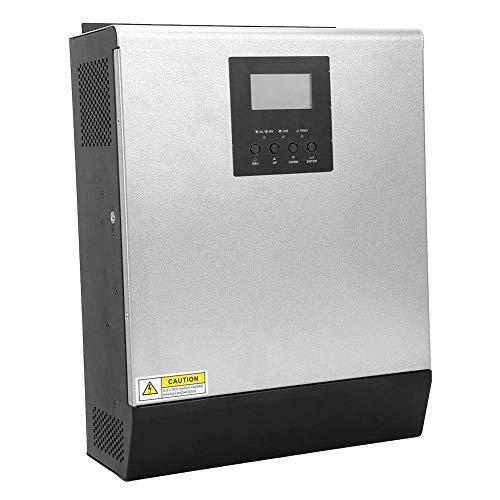 ShiSyan Controlador de velocidad de Inversor híbrido, inversor solar fotovoltaico confiable 3KW 2400W MPPT 24V MPS-3K inversor híbrido controlador fuera de cuadrícula con pantalla LCD para electrodomé