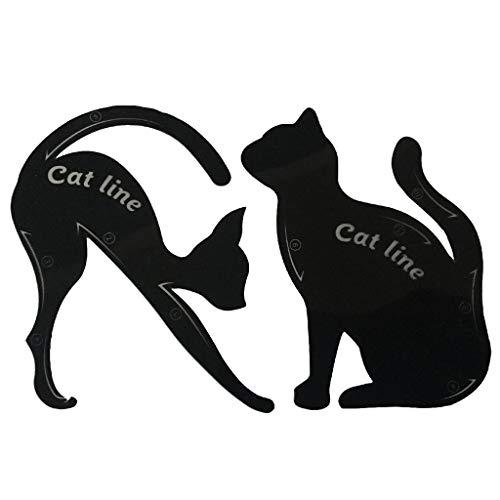 Vektenxi Cat Eyeliner Guides Easy Quick Makeup Tool Eyeliner Schablonen Vorlagen Schwarz Stilvoll und beliebt