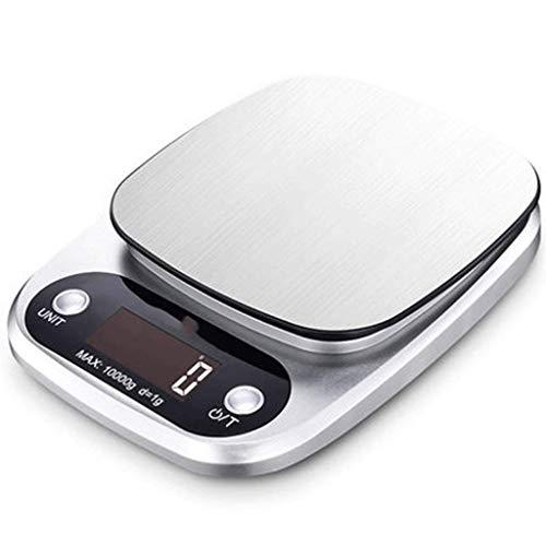 ZJHDX Digital Food Scale, keukenweegschaal Elektronische weegschaal Tariefunctie met verwijderbare kom, Bakken Kookschaal Max, Display 10kg