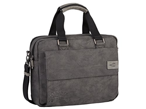 camel active Business Bag Saigon Aktentasche, 41 cm, Grau