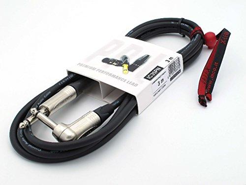 X-LEAD IC35PN030BK Serie PLATINUM, cable de instrumentos profesional de alta calidad para guitarra/bajo/teclados - Jack/Jack - conectores NEUTRIK originales - (3 m, negro) - MADE IN ITALY by INCO