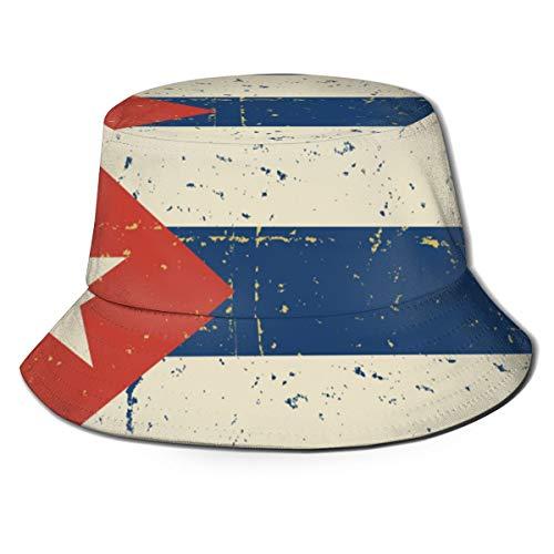 Bandera Cubana Retro Unisex 100% poliéster Packable Pesca Verano Viaje Cubo Sombrero Gorra al Aire Libre
