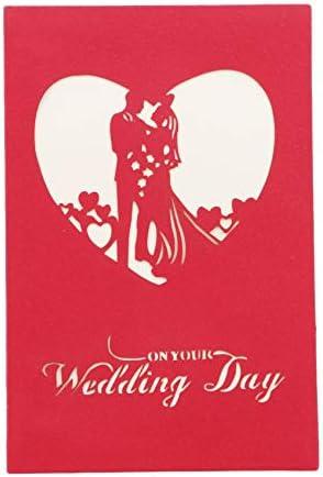 MOONRING Bruiloft Wenskaart Driedimensionaal Papier Carving Card voor Verjaardagen Valentijnsdag