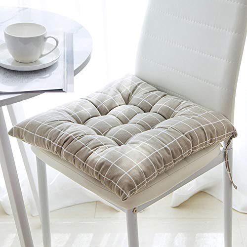 Miwaimao A Variety Of Styles Of Square Leaf Printed Cotton Sofa Chair Cushion Chair Cushion Slip Seat Cushion Soft Pillow (40x40cm),F,40 * 40cm