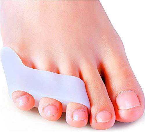 Gel Zehenspreizer, [4x] Silikon kleiner Zehenschutz für überlappende Zehen, Krumme Zehen, zehenkorrektur für kleiner Zehen Druck und Schmerzen für Bunion