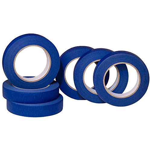 PLEX 6 Pack 1 inch Blue Painters Tape – Easy to Remove Good Adhesive and No Residue, Painting Tape, Masking Tape, Blue Painters Tape, Paint Tape, Wall Tape, Blue Masking Tape, Masking Tape, 360 Yards