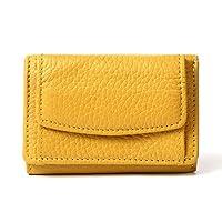 MURA ミニ財布 三つ折り レディース 本革 スキミング防止機能 財布 イタリアンレザー (イエロー)