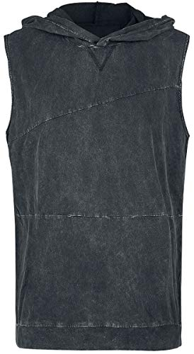 Black Premium by EMP Stronger Than Dirt Homme Débardeur Gris XL, 100% Coton, Regular/Coupe Standard