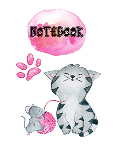 Notebook|: perfect gift for cat and kitten lovers |110 wide ruled pages 6x9 in|Glossy Cover|lined notebook