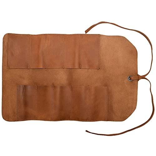 Hide & Drink, Rustic Leather Small Tool Roll, Handmade Includes 101 Year Warranty :: Single Malt Mahogany