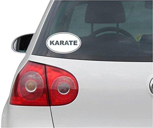 Aufkleber / Autoaufkleber KARATE EURO OVAL - Martial Arts - Vinyl - Folie Auto Decal Sticker - weiß - 139mmx86mm