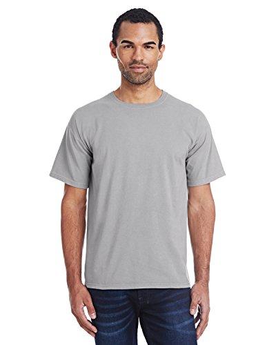 Hanes ComfortWash Garment Dyed Short Sleeve T-Shirt Concrete Gray LG
