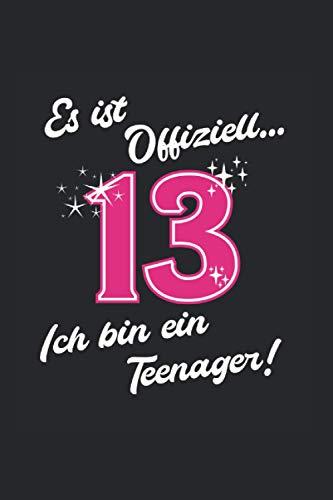 Es ist offiziell ich bin ein Teenager: Teenager Notizbuch Tagebuch Liniert A5 6x9 Zoll Logbuch Planer Geschenk