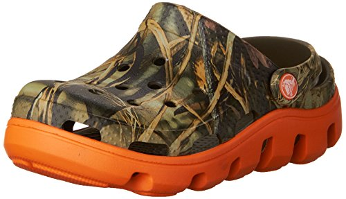Crocs - - Kids Unisex Duet Sport Clog Realtree BoysJ Schuhe, EUR: 22-24, Chocolate/Orange