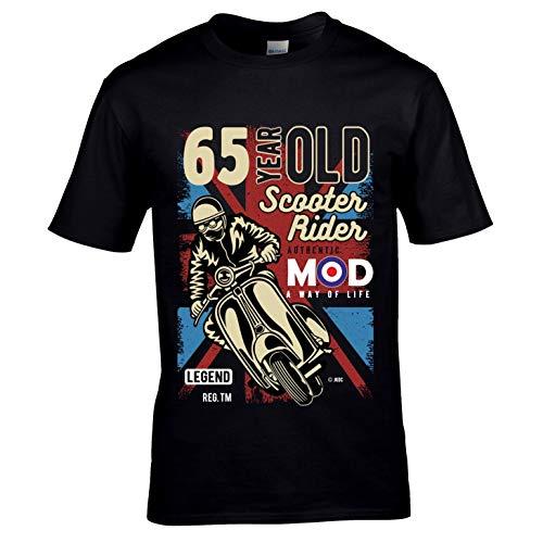 Premium 65 jaar Scooter Rider Mod Slogan Retro Scooter motief voor 65e verjaardag, zwart