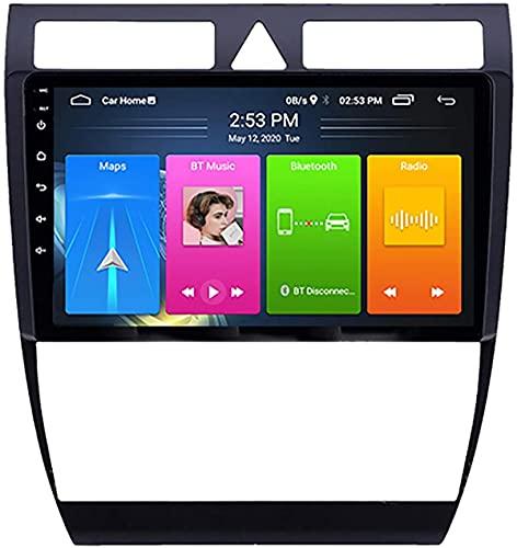 para Audi A6 S6 RS6 1997-2004 Android 10 Car Radio Sistema de navegación Mirror Link Bluetooth Manos Libres Multimedia GPS Navegación Control de Volante