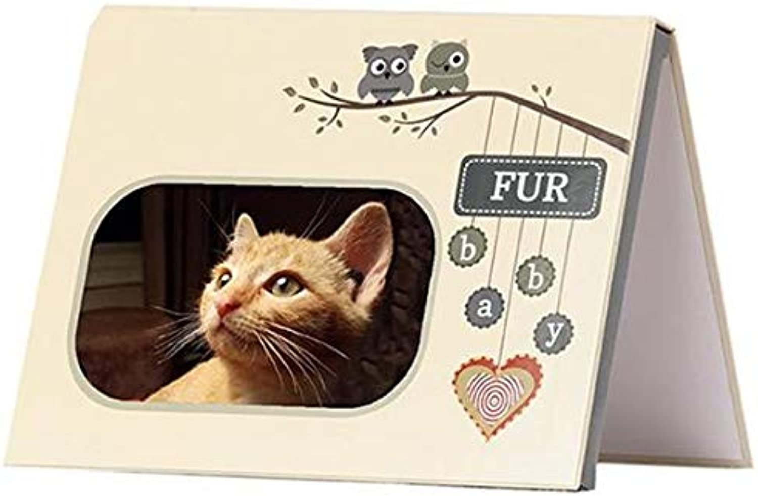 MY BABY'S HEARTBEAT BEAR  Furbaby Cream Picture Frame  20 Second Recording of Your Pet purring or Barking for Keepsake  Cream Furbaby Frame (Cream Frame)