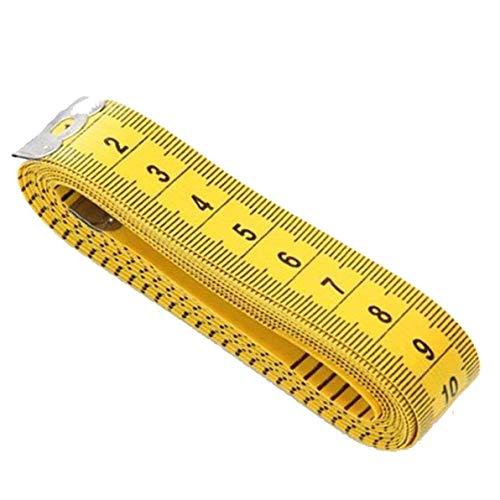 JUNGEN Multifunción Cinta Métricas Amarillo Artesanal Flexible de Coser Medidas de Cinta 300cm (Amarillo-1pcs)