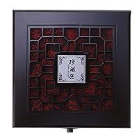 #N/A 木製ジュエリーパールネックレスブレスレット収納オーガナイザーケースボックスロック付き - カラー2