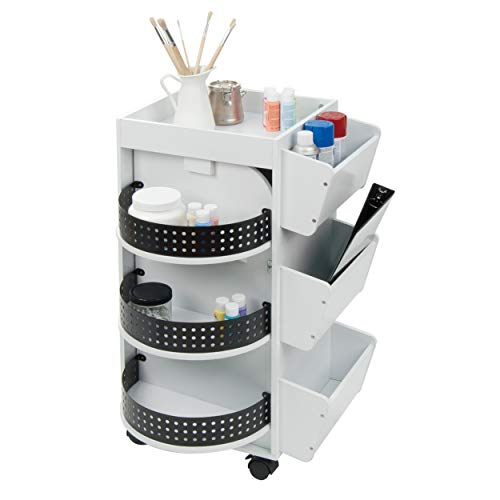 Studio Designs Swivel Organizer, White
