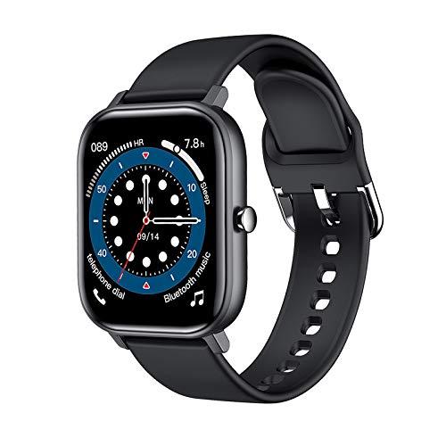 IPOTCH Música Deportes IP68 Reloj Inteligente Impermeable Bluetooth Llamada Fitness Tracker Compatible para teléfonos Android - Negro