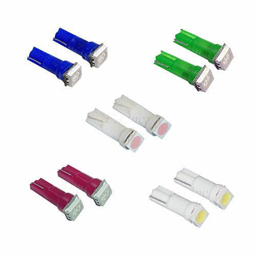 PA 50 x T5 74 73 5050 Unique SMD 5 couleurs Sélection Jauge de tableau de bord Intérieur lumière
