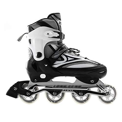 Rollschuhe Für Anfänger Verstellbare Zweireihige Vierrad-Rollschuhe Gerade Reihe Fancy-Schuhe Rollschuhe