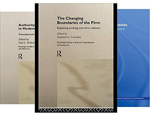 Routledge Studies in Business Organizations and Networks (48 Book Series)
