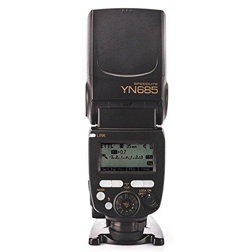 YONGNUO YN685 für Nikon DSLR-Kameras Kompatibel 622N / RF 603 Funksystem + WINGONEER Diffusor