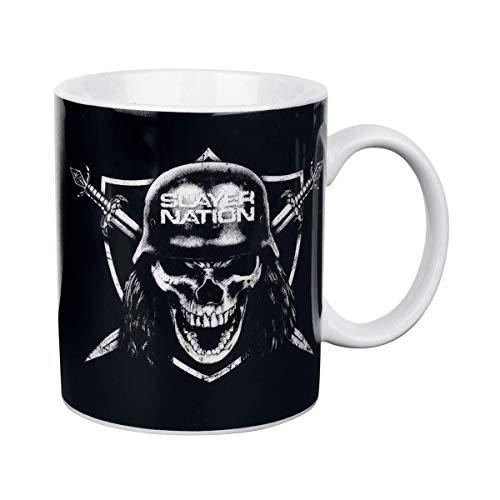 Slayer Kaffeetasse Nation, Porzellan, schwarz, 8 cm