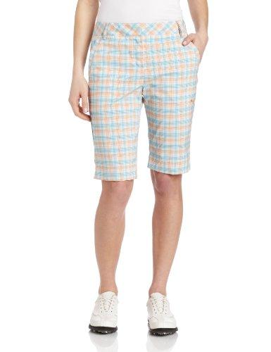 PUMA Golf NA Damen 2013 Plaid Tech Shorts, Damen, White/Orange/Capri, 8