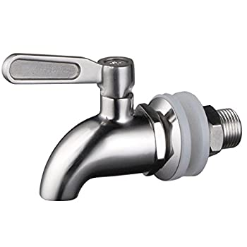 Stainless Works SSS010 Stainless Steel Beverage Dispenser Spigot  Fits 5/8 inch opening
