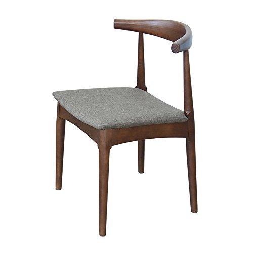 KFXL yizi Chaise en bois massif à manger chaise Home dossier Restaurant Casual Cafe chaise bureau chaise en bois 5 couleurs en option (Couleur : B)