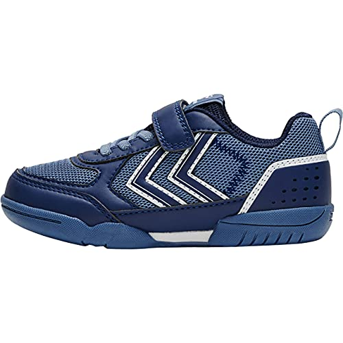hummel AEROTEAM 2.0 JR VC Handball Shoe, Blue Depths, 36 EU