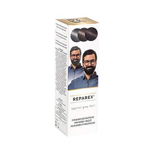 Reparex contra canas – Tratamiento de barba gris natural para bigote y barba – Mejor que el tinte de barba – no más gris – 125 ml