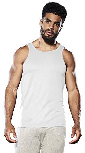 Herren Sportweste, schnelltrocknend, atmungsaktiv, für Laufen, Joggen, Fitness, Eisweiß, Größe L
