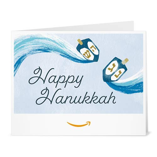 Amazon Gift Card - Print - Happy Hanukkah Dreidels