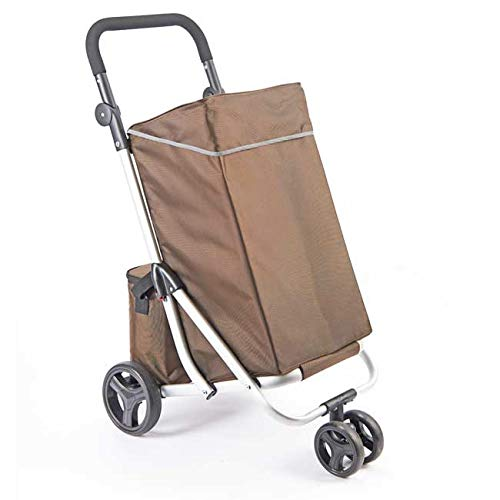 easylife lifestyle solutions Lightweight 4-Wheel Shopping Trolley | Extra Pair of Wheels for Handling & Manoeuvring | Fold able Aluminium Frame | Insulated Cool 2nd Bag | Large (30kg) Main Bag