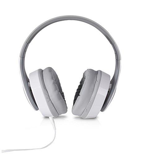 TDK ST560S - Auriculares de diadema abiertos (con micrófono, control remoto integrado, 3.5 mm), blanco