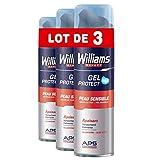 Williams Expert Gel Afeitar Piel Sensible - 3 Paquetes x 200 ml - Total: 600 ml