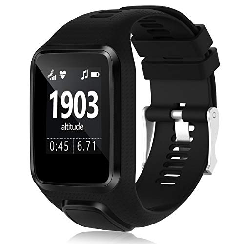Great Deal! HUMENN Band Compatible with Tomtom Runner 2/3 Series,Spark 3,Golfer 2,Adventurer - Silic...