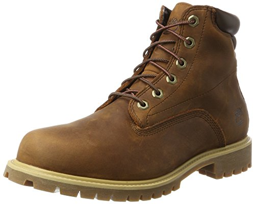 Timberland 6 Inch Alburn Waterproof, Botas Chukka para Hombre, Marrón (MD Brown Full Grain), 41.5 EU