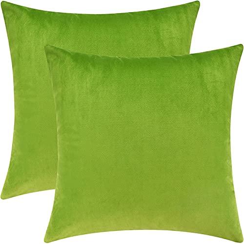 MissW Funda De Almohada Decorativa Cuadrada Azul Verde Amarillo De 45X45 Cm De Grosor Lavable Sin Núcleo De Almohada Adecuada para Fiestas Restaurantes Hogares